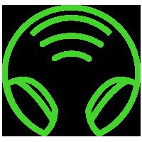 Áudio sem fio de 2,4 GHz